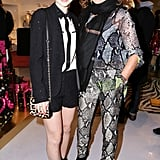 Sami Gayle and Diane von Furstenberg in DVF at Diane von Furstenberg's holiday capsule collection launch.