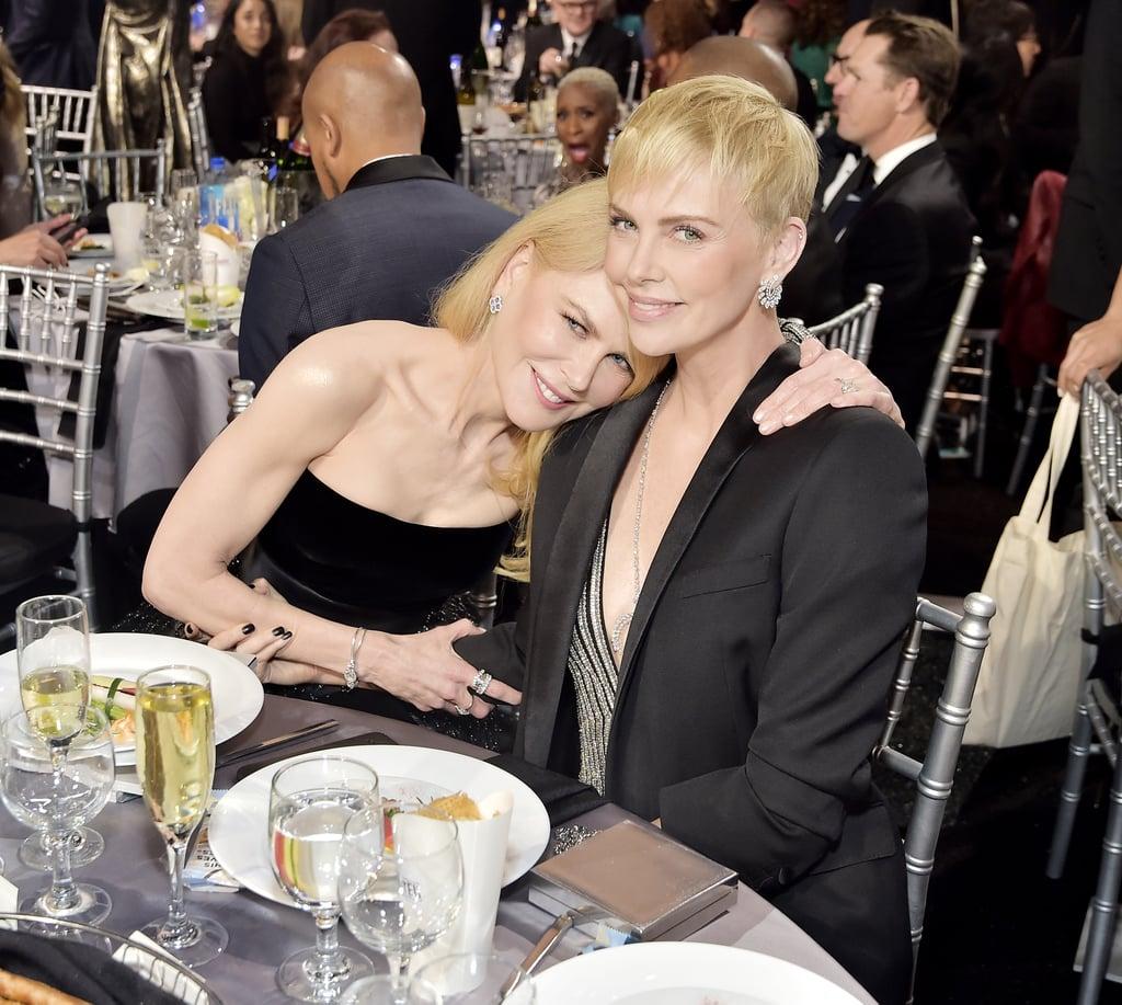 Nicole Kidman and Charlize Theron at the 2020 Critics' Choice Awards