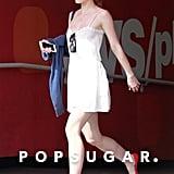 Lily-Rose Depp Red Block Heels
