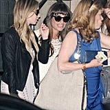 Lea Michele smiled as she left Jami-Lynn Sigler's baby shower.