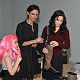 Courteney Cox and Coco Arquette checked out NewbarK.