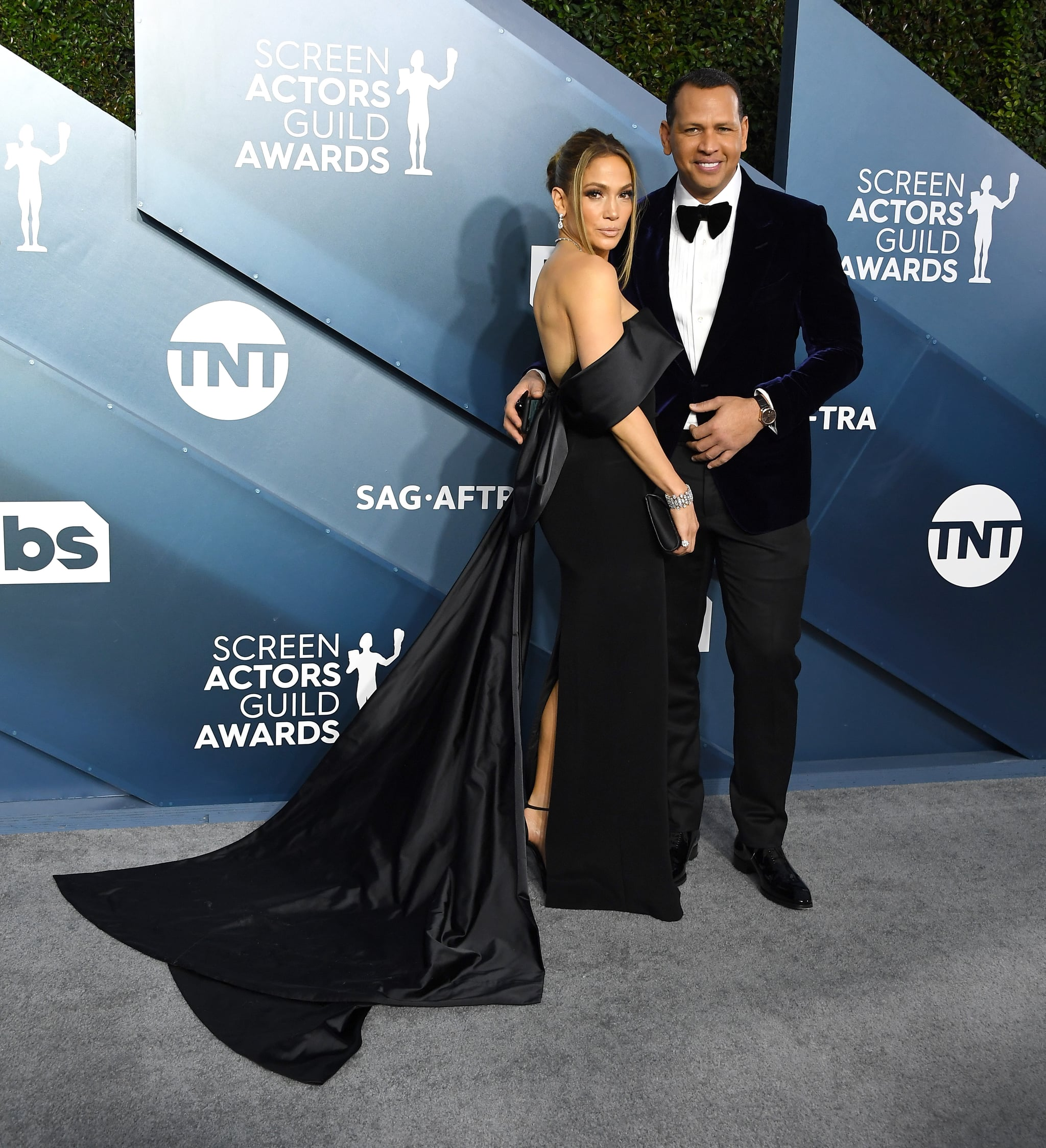 LOS ANGELES, CALIFORNIA - JANUARY 19: Jennifer Lopez and Alex Rodriguez arrives at the 26th Annual Screen Actors Guild Awards at The Shrine Auditorium on January 19, 2020 in Los Angeles, California. (Photo by Steve Granitz/WireImage)