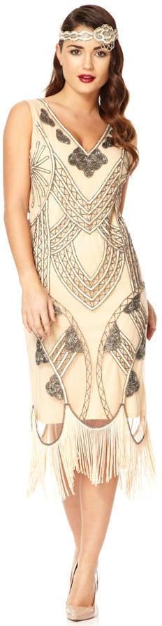 Gatsbylady London '20s-Inspired Flapper Fringe Dress