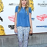 Kristen Bell arrived at the GenArt Summer Screening Series in LA to premiere Hit and Run.