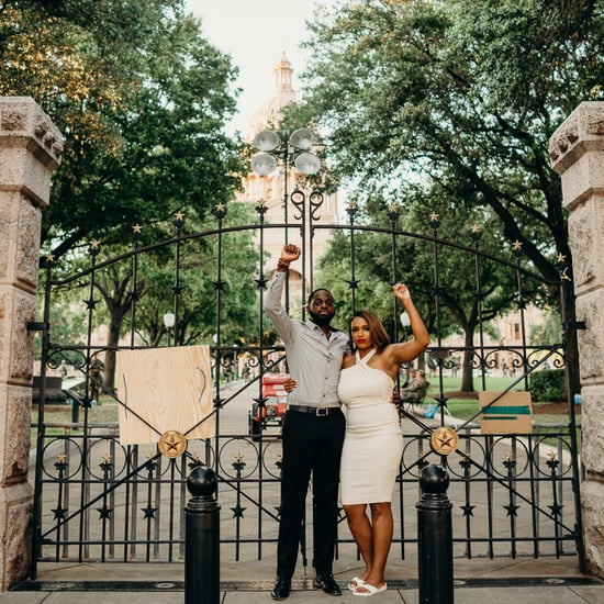 Engagement Photo Shoot During Black Lives Matter Protest