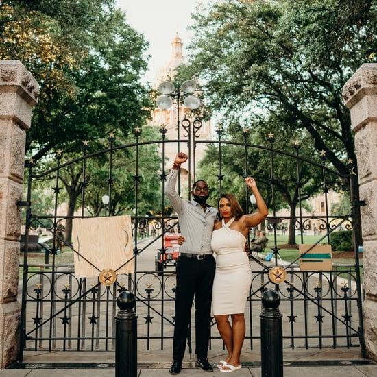 Engagement Photo Shoot During Black Lives Matter Protest
