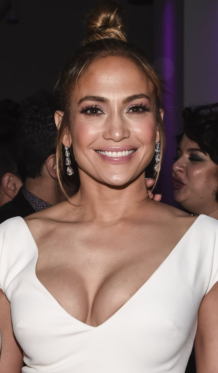 Jennifer Lopez White Elie Saab Dress at Second Act ...