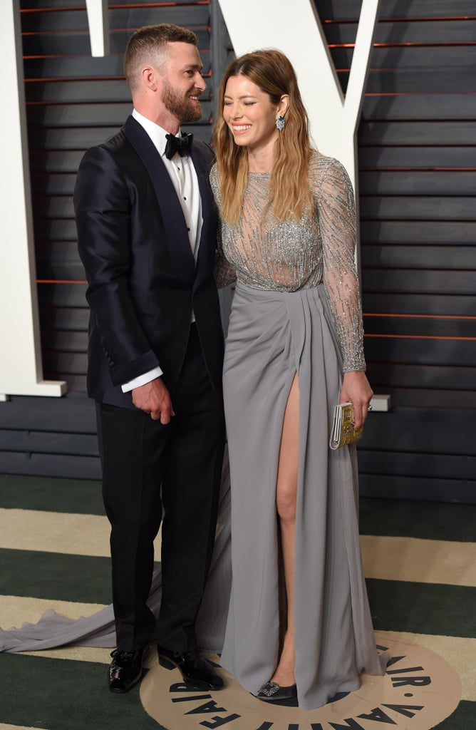 The duo couldn't help but giggle at the Vanity Fair Oscars party in February 2016.