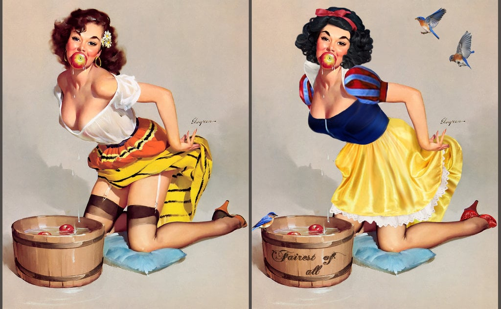 Pin up girls having sex