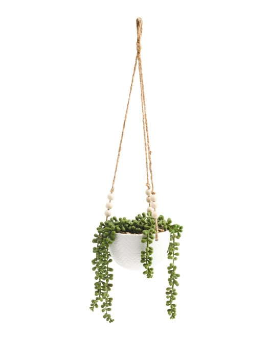 Diamond Ceramic Hanging Plant