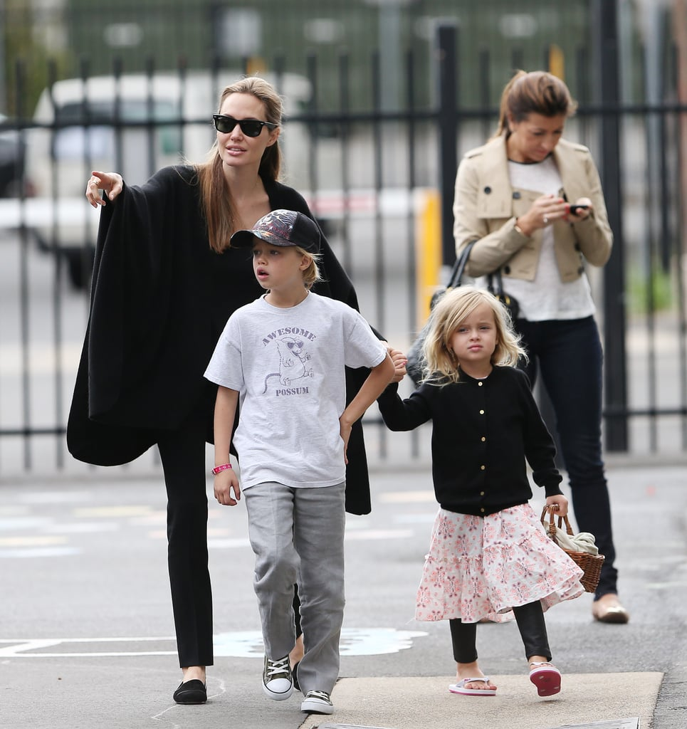 Angelina Jolie Has a Crafty Weekend With Shiloh and Vivienne in Sydney