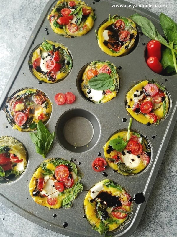 Caprese Breakfast Egg Cups | Quick Low-Carb Dinner Recipes ...