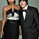 Kim met up with a young Justin Bieber at the White House Correspondents' Dinner in Washington DC in May 2010.