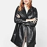 Mango Fur zipper coat