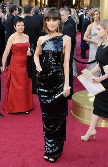 Rose Byrne's sleek one-shoulder was glam in front, but. . .