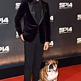 Lewis Hamilton brought his dog, Roscoe, to the BBC Sports Personality of the Year Awards in Glasgow.