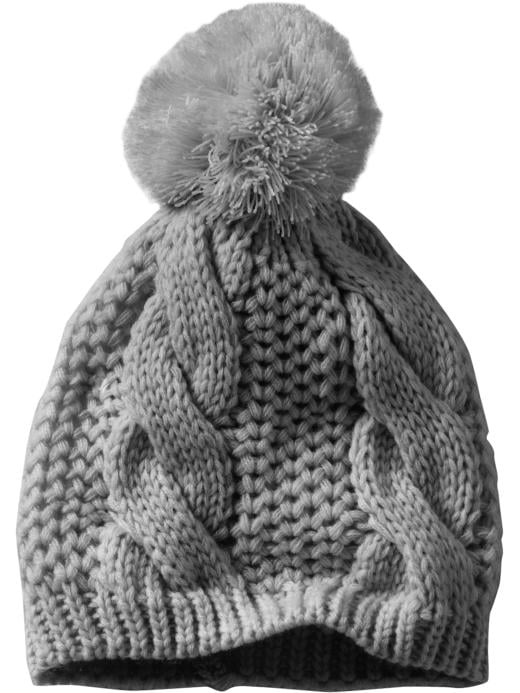 I love that this Gap Cableknit Pom Pom Beanie ($25) almost has the look of a chunky sweater.
