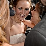 Jennifer Lawrence at the Oscars 2013.