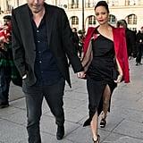 Thandie Newton and Ol Parker at Paris Fashion Week, 2017