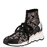 Pierre Hardy Comet Trek-Up Metallic Floral Jacquard Sneakers