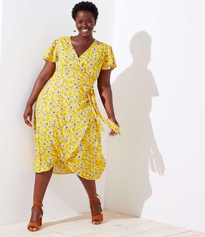 7696e60f94b Loft Plus Garden Tie Waist Flounce Dress
