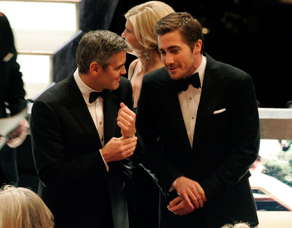 George Clooney chatted with Jake between commercials at the 78th annual Academy Awards in March 2006.