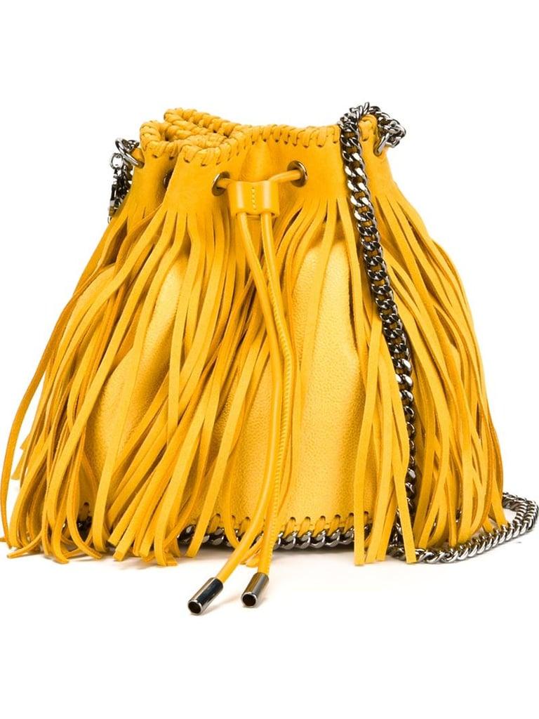 Stella McCartney Falabella Sun Fringed Bucket Shoulder Bag