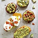 Avocado Toast on Sweet Potato Buns