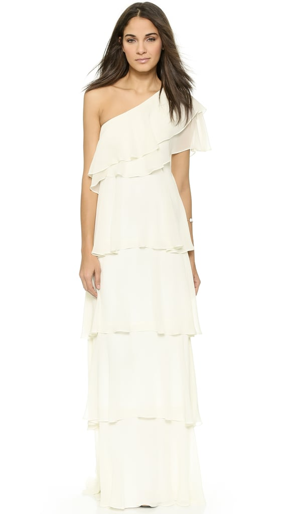 Try out this Rachel Zoe Ruffle Maxi Gown ($595)