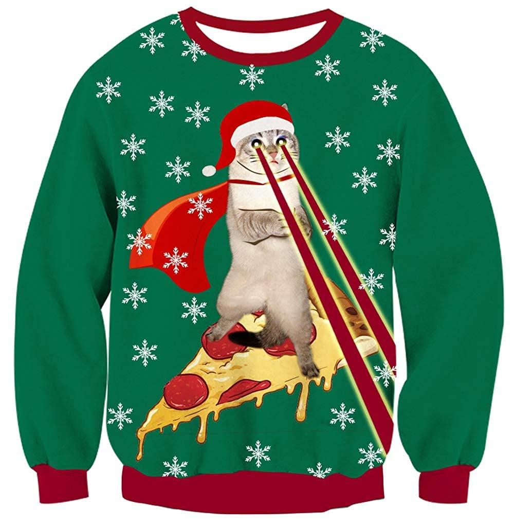 UNICOMIDEA Ugly Christmas Sweater   Pizza Gift Ideas   POPSUGAR Love ...