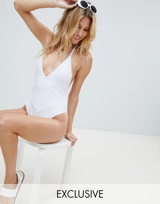 PrettyLittleThing Plunge Swimsuit