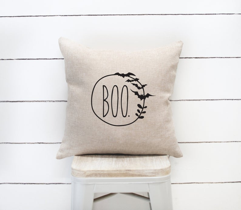 Farmhouse Halloween Pillow Cover