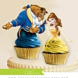 Princess Belle and the Beast Cupcake Toppers