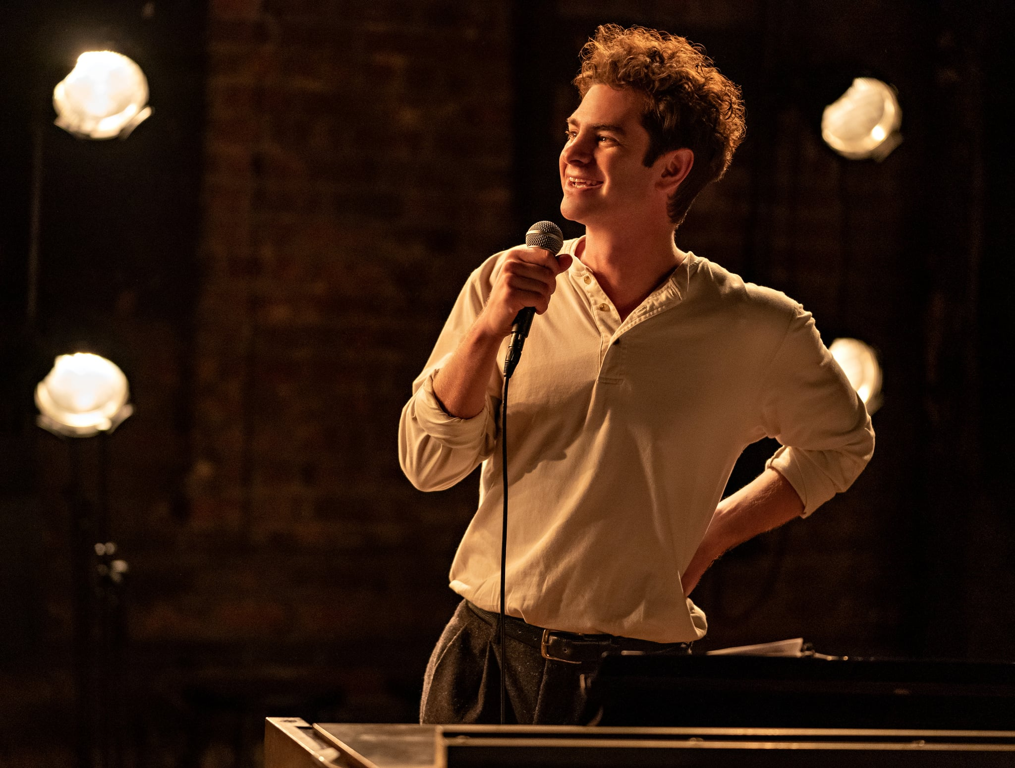 TICK, TICK…BOOM! Andrew Garfield as Jonathan Larson, in TICK, TICK…BOOM! Photo Credit: Macall Polay/NETFLIX ©2021