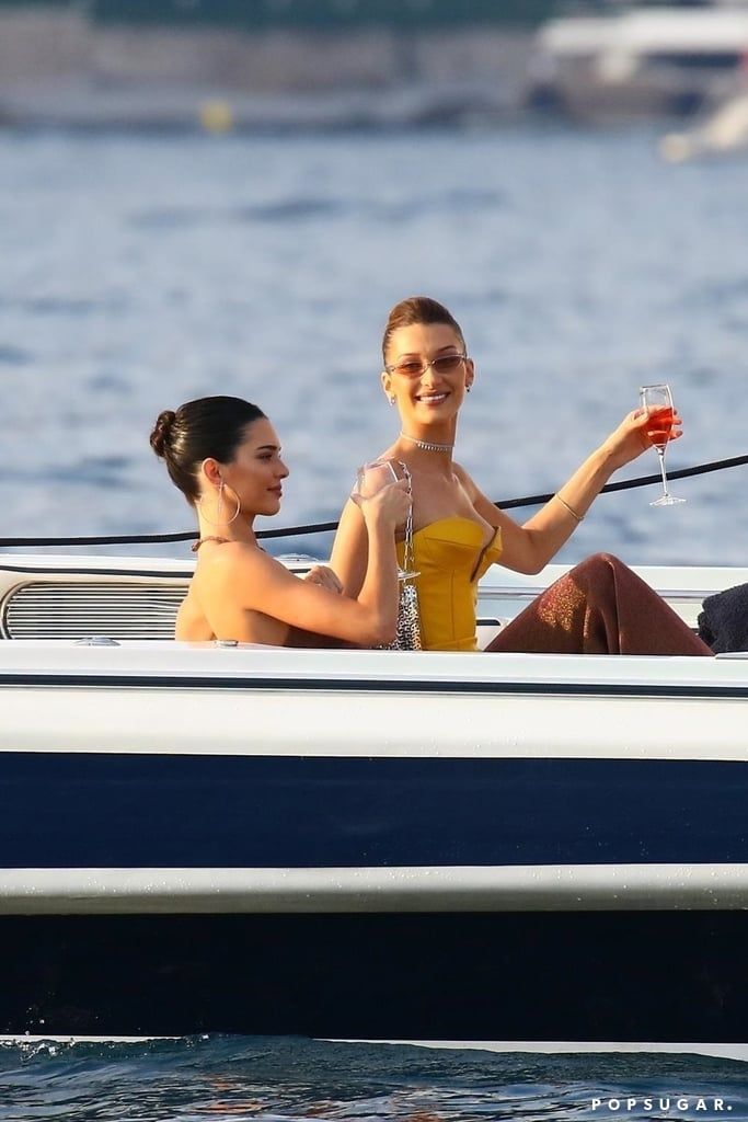 Kendall Jenner and Bella Hadid Sipping Wine on a Yacht Is Now on My Summer Mood Board
