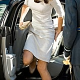 Kate Middleton arrived to the Royal Marsden Hospital in London.