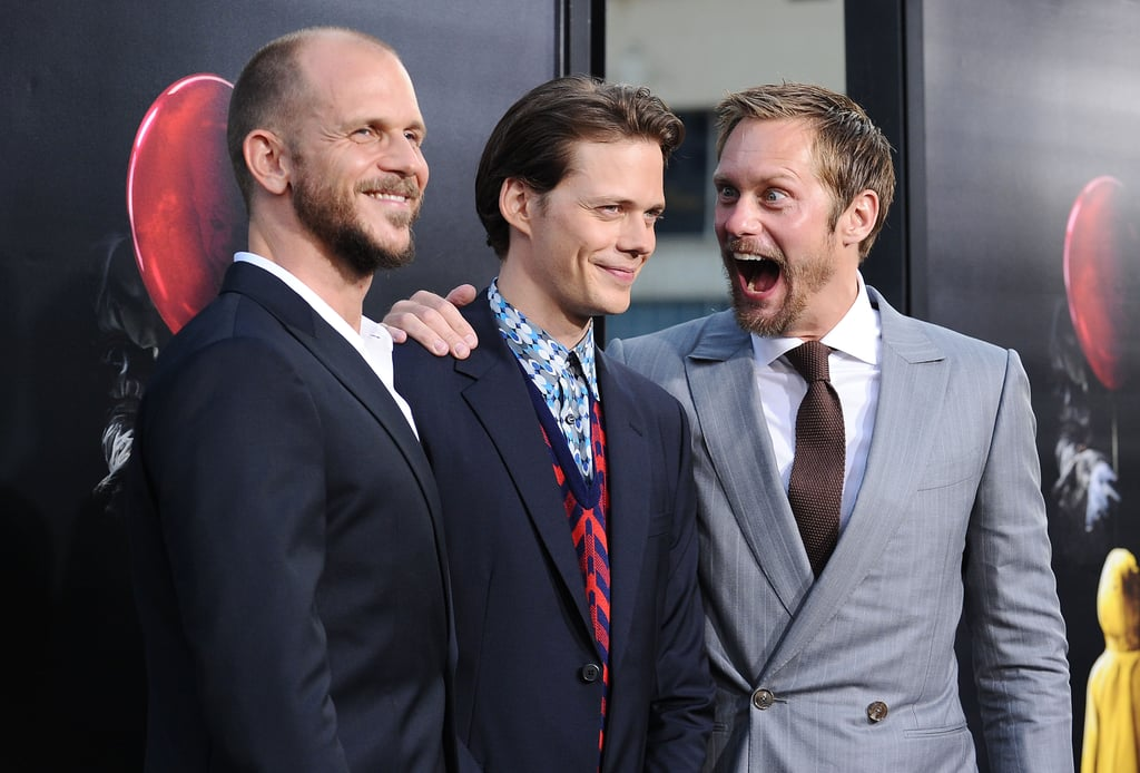 Bill Skarsgard may be playing the terrifying Pennywise in the remake of Stephen King's It, but it was his older brother who was the ultimate clown at the film's LA premiere. On Tuesday, Bill was joined by his famous siblings Alexander and Gustaf as he hit the red carpet at the TCL Chinese Theatre. Aside from giving us major Hemsworth brothers vibes with their group photo, Alexander also had a little fun with the cameras as he photobombed his brother by pretending to get starstruck behind him. Needless to say, we can't get enough of their brotherly bond.      Related:                                                                                                           24 Pictures That Will Remind You Just How Handsome Alexander Skarsgard Is