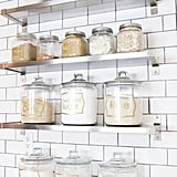 Create a Baking Station With Ikea Shelves and Glass Jars