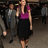 Katie Holmes made her way into the Jack and Jill premiere in LA.