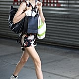 Lindsey Wixson played it cool postshow with a pair of Converse high-tops. Source: Greg Kessler