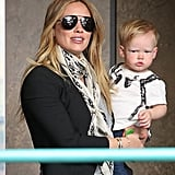 Hilary Duff took her son, Luca, to a mommy-and-me class in LA.