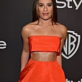 Lea Michele's Dress at Golden Globes Afterparty 2019