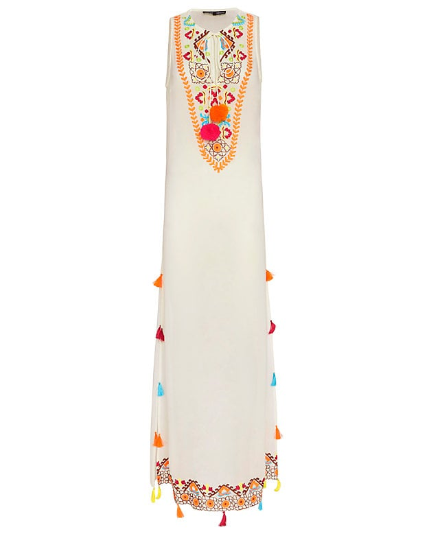 Hemant & Nandita Exclusive Embroidered Pom/Tassel Maxi Dress ($318)