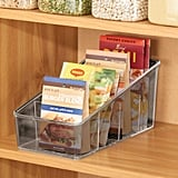 mDesign Plastic Food Packet Organiser Bin Caddy