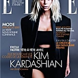 Kim Wore a Sleek Balmain Ensemble on the Cover of Elle France