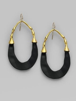 Alexis Bittar Goldplated Large Swing Earrings ($225)