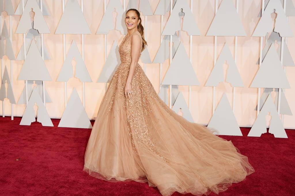 Jennifer Lopez In Elie Saab At The 2015 Oscars Jennifer