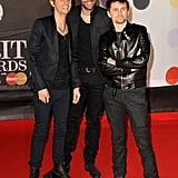 Matthew Bellamy stepped out for the Brit Awards with his band Muse.