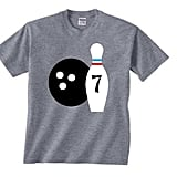 PersonaliTEEshop Bowling Birthday Shirt