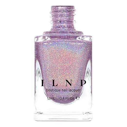 A Holographic Lilac Nail Polish